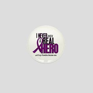 Never Knew A Hero 2 Purple (Grandma) Mini Button