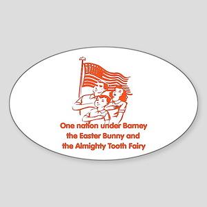 Atheist Pledge Oval Sticker