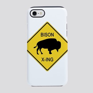 Bison Crossing Sign iPhone 8/7 Tough Case
