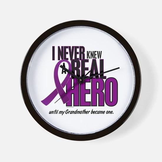 Never Knew A Hero 2 Purple (Grandmother) Wall Cloc