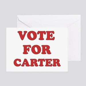 Vote for CARTER Greeting Card