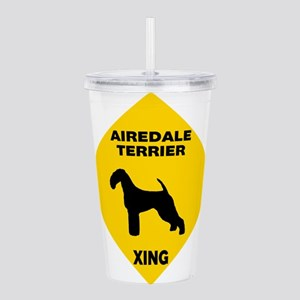Airedale Terrier Cross Acrylic Double-wall Tumbler