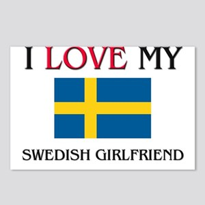 I Love My Swedish Girlfriend Postcards (Package of