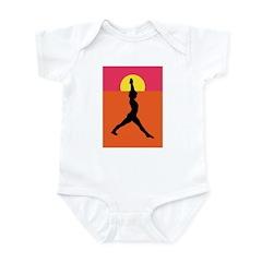 Yoga Warrior Pose Infant Bodysuit