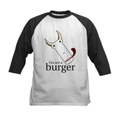 Not A Burger Kids Baseball Jersey