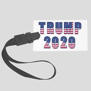 Patriotic Trump 2020 Large Luggage Tag
