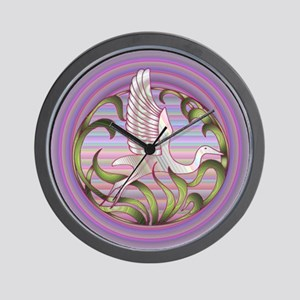 Heron Sunset Wall Clock