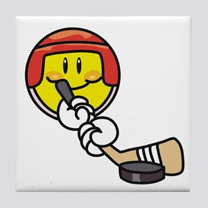 Smile Face Hockey Tile Coaster