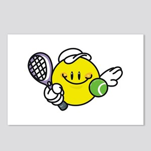 Smile Face Tennis Postcards (Package of 8)