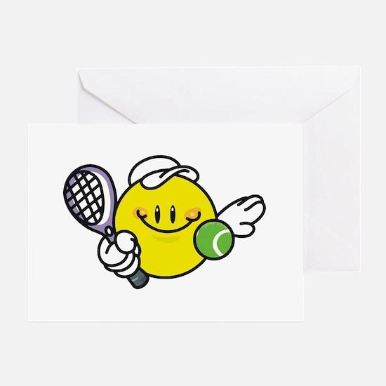 Smile Face Tennis Greeting Card