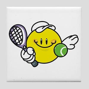 Smile Face Tennis Tile Coaster