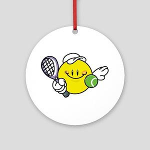 Smile Face Tennis Ornament (Round)