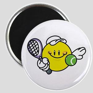 Smile Face Tennis Magnet