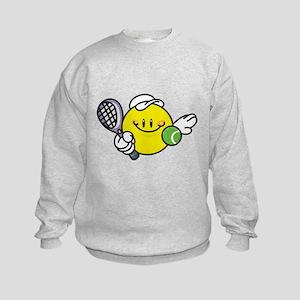 Smile Face Tennis Kids Sweatshirt