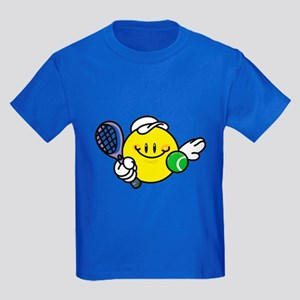 Smile Face Tennis Kids Dark T-Shirt