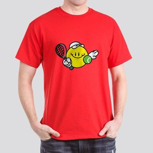 Smile Face Tennis Dark T-Shirt