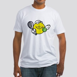 Smile Face Tennis Fitted T-Shirt