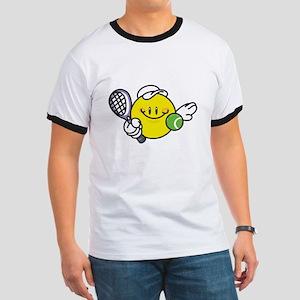 Smile Face Tennis Ringer T