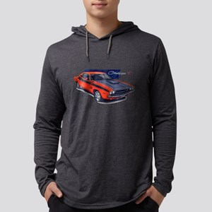 Dodge Challenger Orange Car Long Sleeve T-Shirt