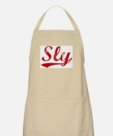 Sly (red vintage) BBQ Apron