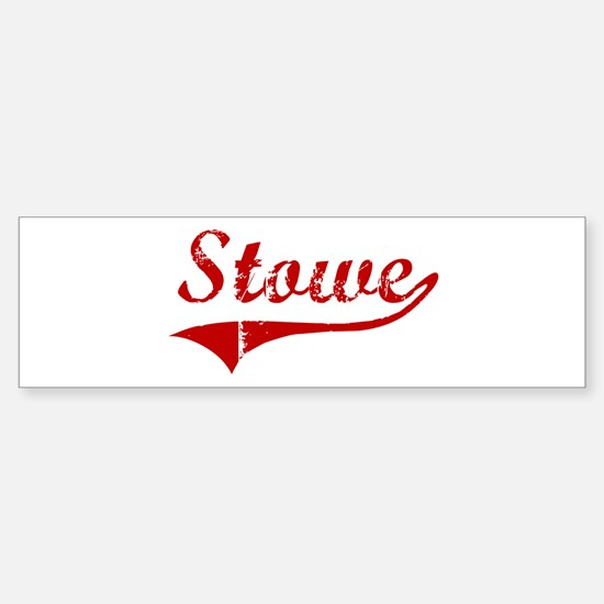 Stowe (red vintage) Bumper Bumper Bumper Sticker