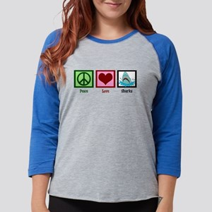 Peace Love Sharks Long Sleeve T-Shirt