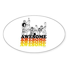 Awesome ~ Oval Decal