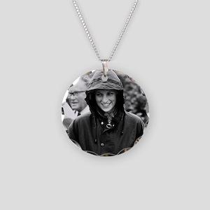 HRH Princess Diana Drinking Necklace Circle Charm