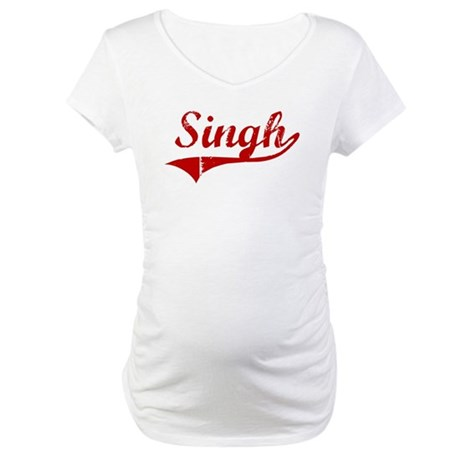 Singh (red vintage) Maternity T-Shirt