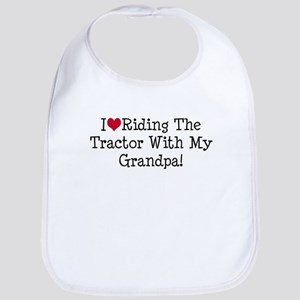 Tractor With My Grandpa Bib