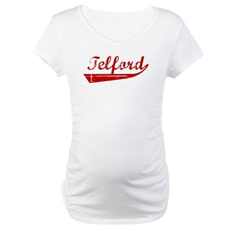 Telford (red vintage) Maternity T-Shirt