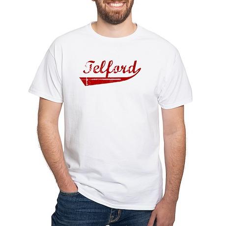 Telford (red vintage) White T-Shirt