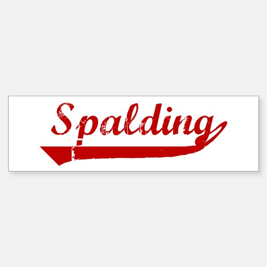 Spalding (red vintage) Bumper Bumper Bumper Sticker