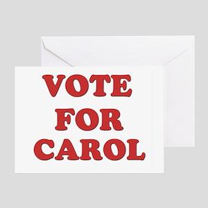 Vote for CAROL Greeting Card