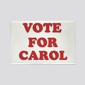 Vote for CAROL Rectangle Magnet