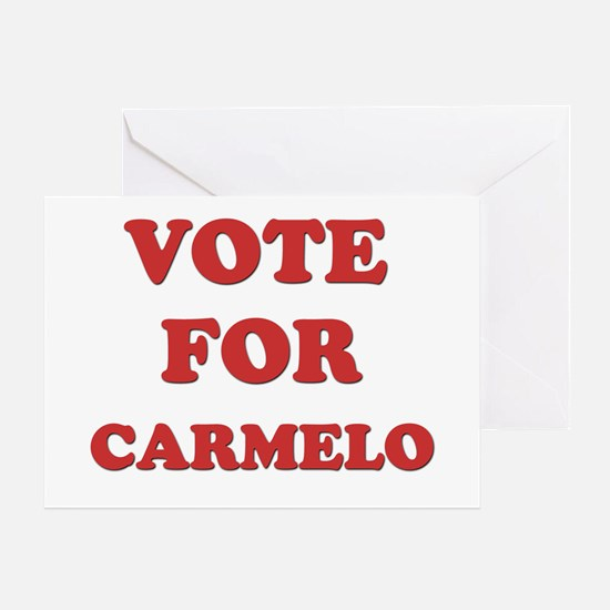 Vote for CARMELO Greeting Card