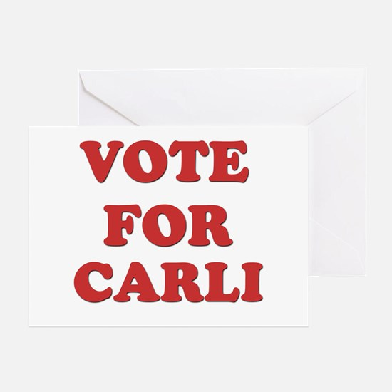Vote for CARLI Greeting Card