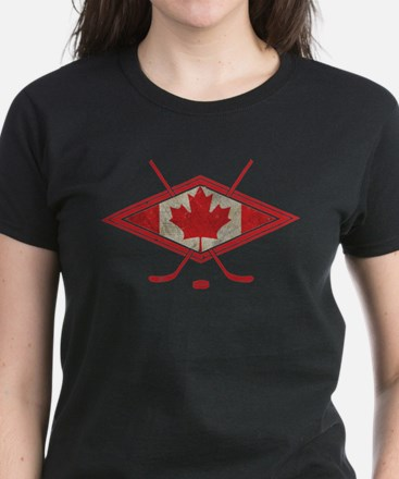 Canadian Hockey Flag T-Shirt
