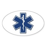 EMT Rescue Oval Sticker (50 pk)