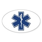 EMT Rescue Oval Sticker (10 pk)