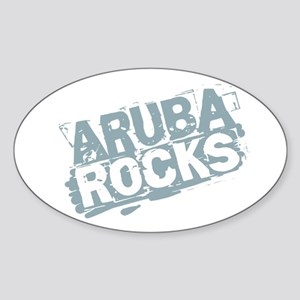 Aruba Rocks Oval Sticker
