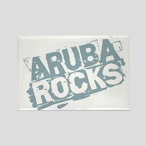 Aruba Rocks Rectangle Magnet