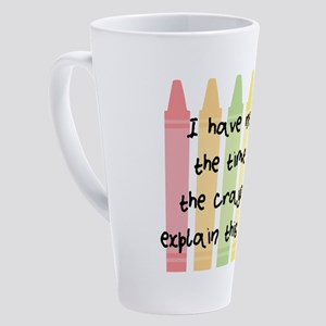 No Crayons 17 oz Latte Mug