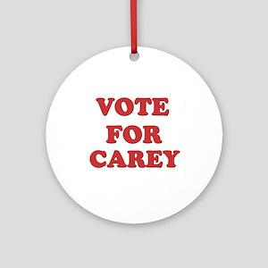Vote for CAREY Ornament (Round)