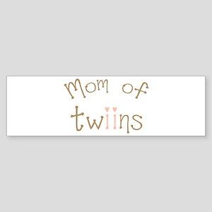 Mom of Twin Girls Twiin Bumper Sticker