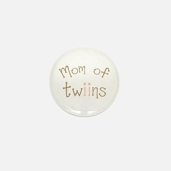 Mom of Twin Girls Twiin Mini Button