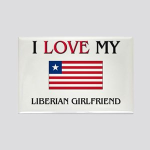 I Love My Liberian Girlfriend Rectangle Magnet
