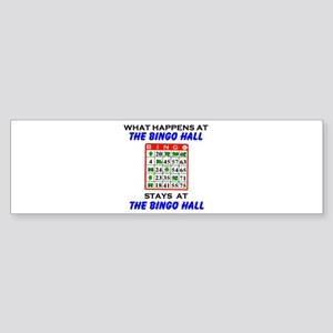 BINGO HALL Bumper Sticker
