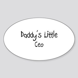 Daddy's Little Ceo Oval Sticker