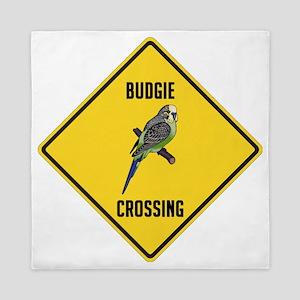 Budgie Crossing Sign Queen Duvet